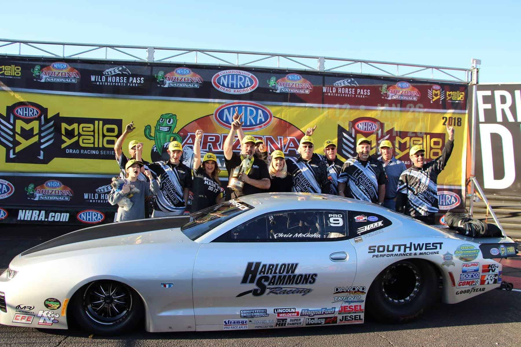 NHRA Arizona Nationals Winner Chris Mcgaha